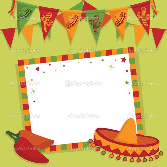 Mexican fiesta invitation templates free fiesta invites for Mexican themed powerpoint template