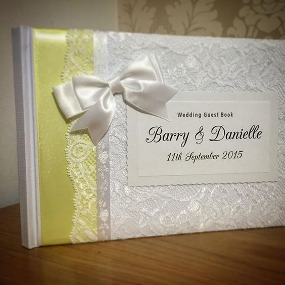Lemon ribbon  #wedding #guestbook #lace #ribbon #diy #brides #weddinginspiration #weddingday #vintage #classic #shabbychic #personalised #bespoke #unique #individual #crafty #craft