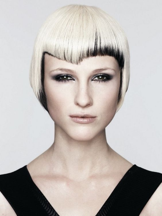 Blonde & Black: Short Layered Hairstyles, Layered Bob Hairstyles, Short Hairstyles, Women S Haircut, Hair Style, Choppy Hairstyles, Hair Color