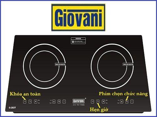 Tìm hiểu một số tính năng cơ bản trên bếp từ Giovani G 282T