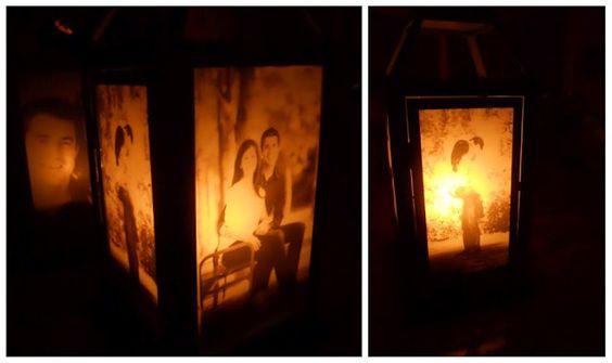 DIY Photo Lantern, super cute!