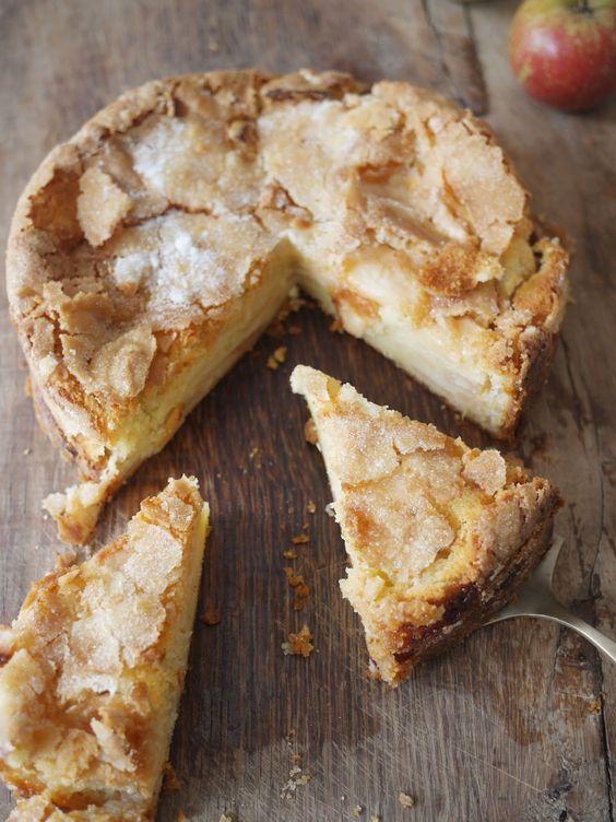 Gteau aux pommes et yaourt et sa crote craquante - Blog de cuisine crative recettes  popotte de Manue
