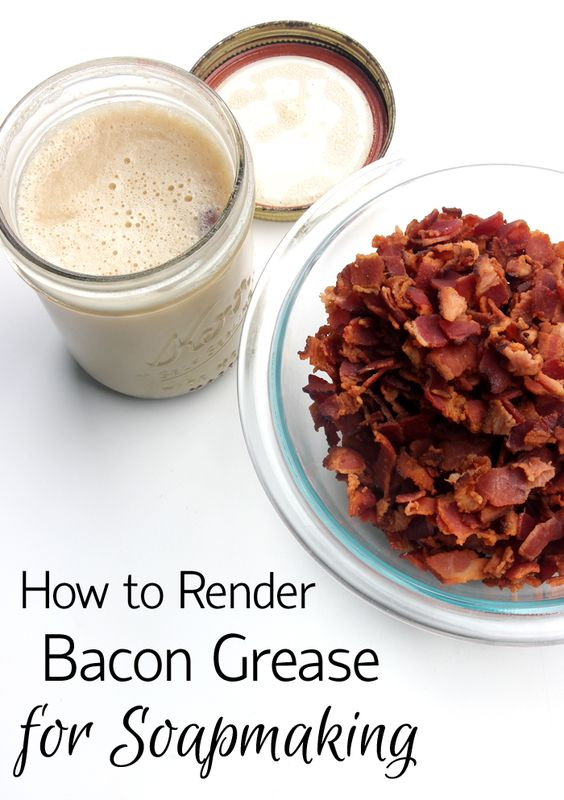 Learn how to reuse bacon grease to make cold process soap!
