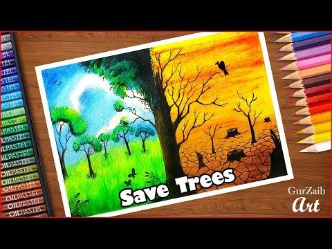 How To Draw Save Trees Poster Chart For School Students Very Easy Step By Step Youtube Earth Drawings Save Water Poster Drawing Save Trees Discover the art of the arbor. how to draw save trees poster chart for
