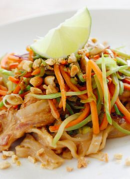Asian Peanut Noodles with Chicken – Lightened Up | Peanuts, Noodles ...