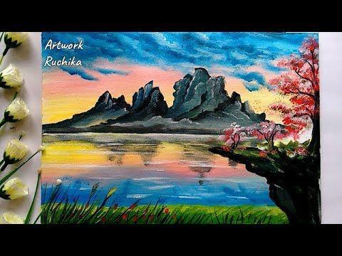 Artwork Ruchika Youtube Beautiful Landscape Paintings Scenery Paintings Landscape Paintings Acrylic