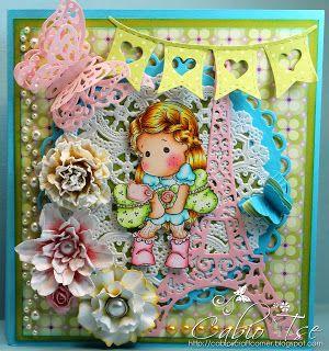 Cabio's Craft Corner: Puppy Love Tilda Thank You Book Card