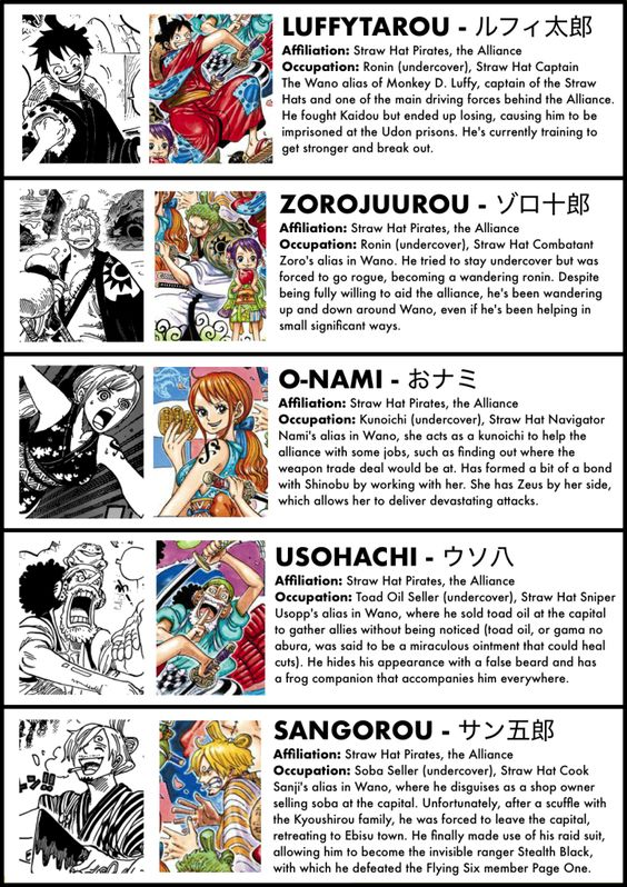 A Complete Guide To Every Character In The Wano Arc The Library Of Ohara One Piece Episodes Manga Anime One Piece One Piece Anime Episodes