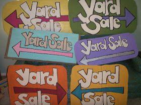 A Bit Backward . . .: How We Threw a Pinterest-Worthy Garage/Yard Sale
