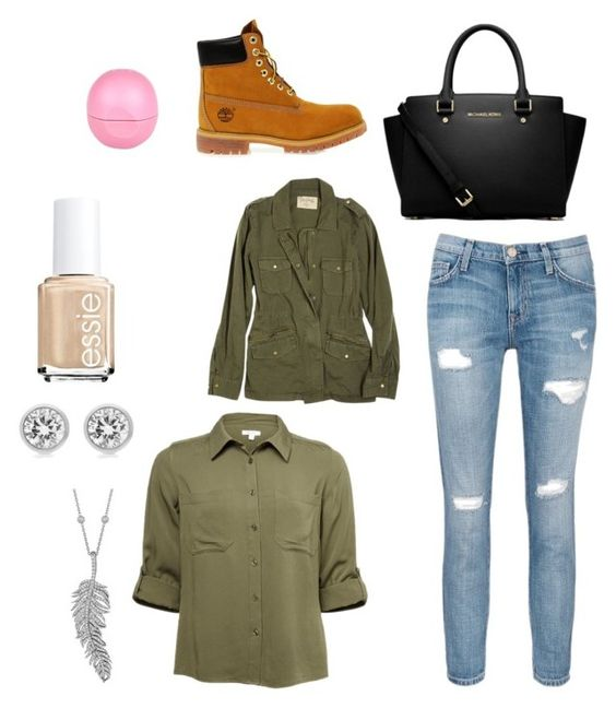 """""""Untitled #78"""" by janisan0310 ❤ liked on Polyvore featuring MICHAEL Michael Kors, Current/Elliott, Velvet, Timberland, Penny Preville, Michael Kors, Essie and River Island"""