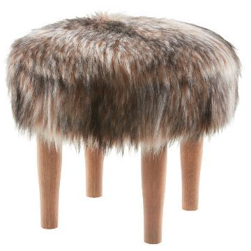 Raccoon Faux Fur Accent Stool - Threshold™