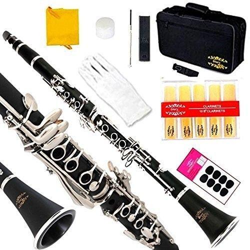 Glory B Flat Clarinet With Second Barrel 11reeds 8 Pads Cushions Case Carekit  #GLORY