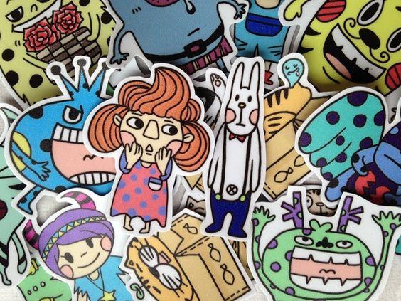 Leep-可愛手繪貼紙組 - LeeP's Doodle | Pinkoi