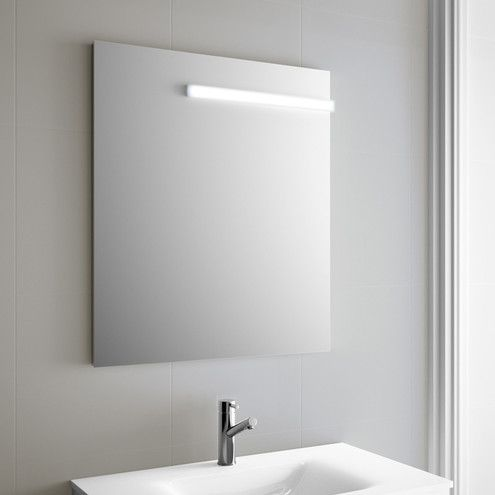 Specchio Da Bagno Tabita Con Applique Illuminazione Led Cm 70x80
