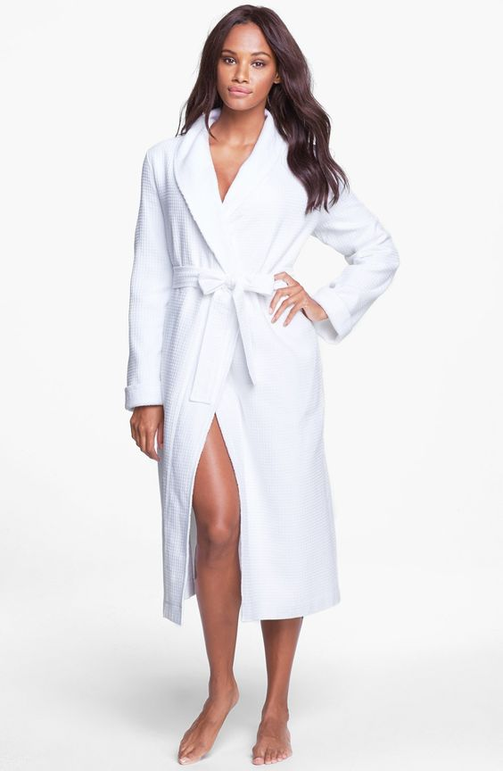 Nordstrom Terry Lined Waffle Robe