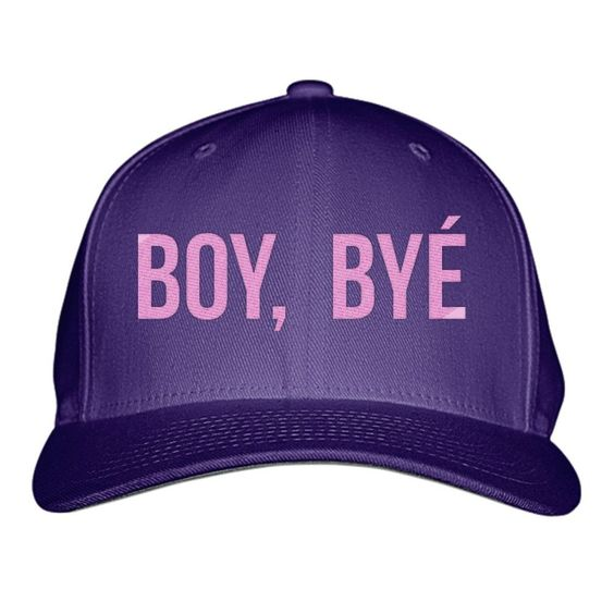 Boy Bye Embroidered Baseball Cap