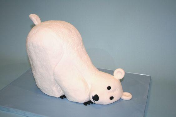 3D Polar Bear Custom Cake NJ