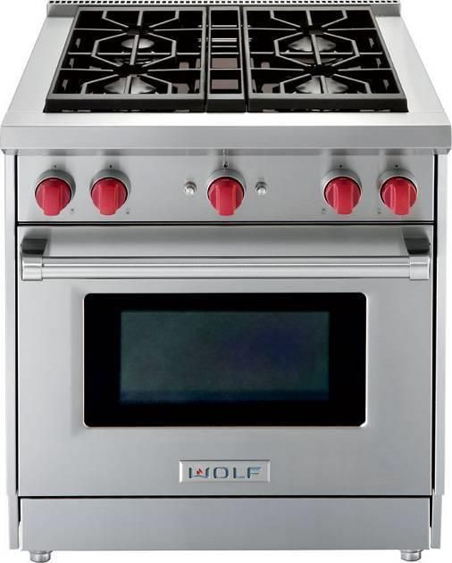WOLF GR304LP 30 Inch Pro-Style Gas Range Stainless Images #Wolf