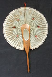 1870, 1890 Souvenir cockade fan