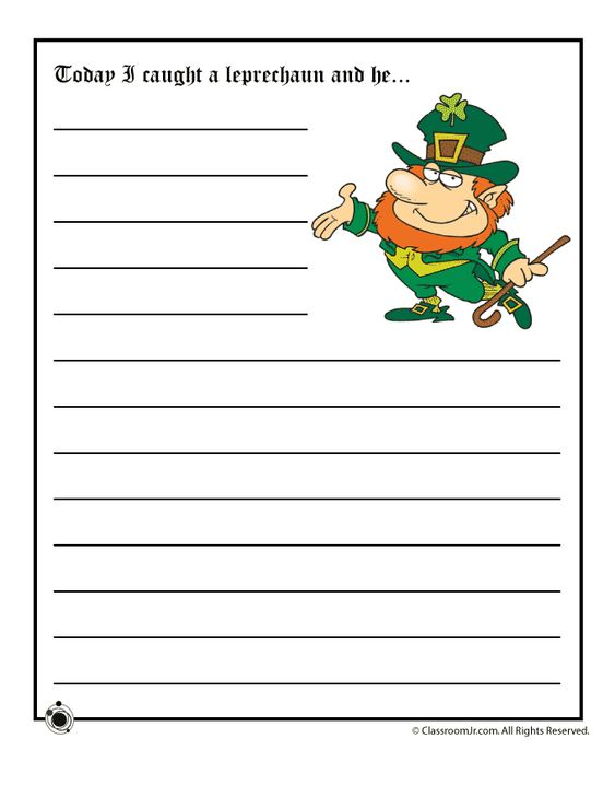 leprechaun writing paper 3 wishes from a leprechaun- writing from the teacher fairy on teachersnotebookcom (4 pages.