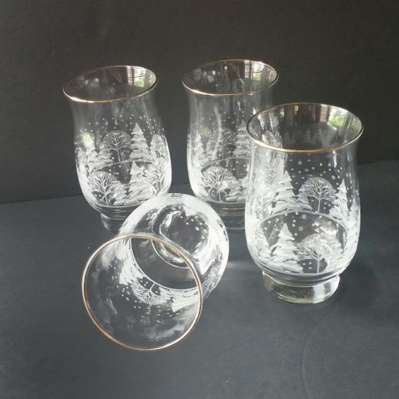 Christmas Tree Drinking Water: Glass Tumblers, Drinking Glasses, Christmas Glasses, Iced