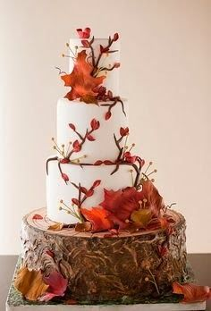 simple homemade wedding cake 2014 #wedding #cake #2014