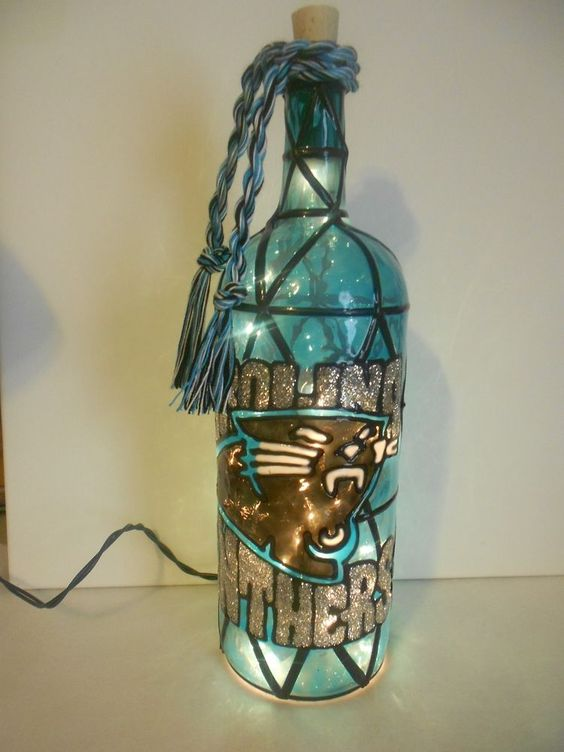 Carolina Panthers Bling Bottle Cooler