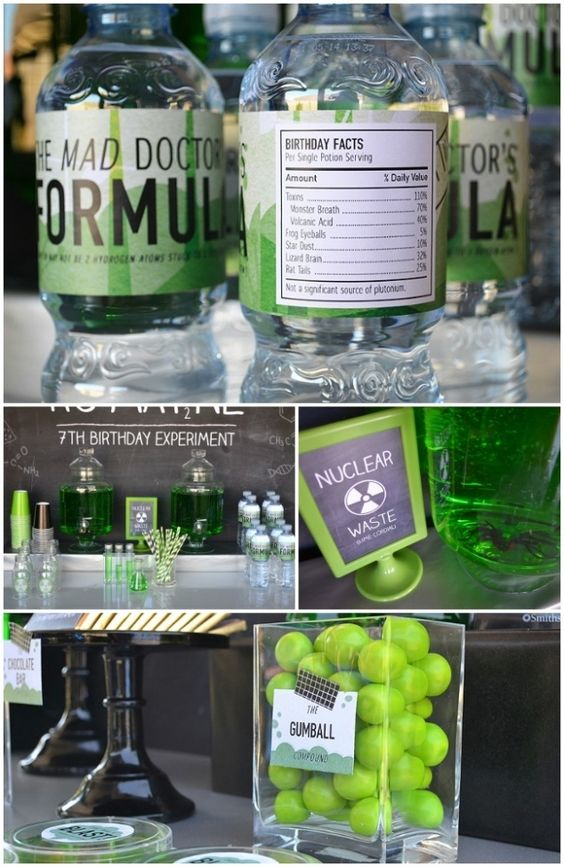 Mad Science Party Supplies   love this mad science party get the look mad science printables glass ...