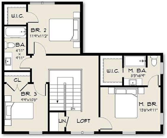 Plan 61400ev exclusive farmhouse plan with open concept for Open concept house plans with loft