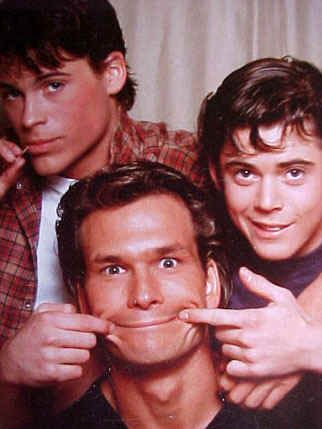The Outsiders- C Thomas Howell, Rob Lowe, and Patrick Swayze...this picture is so cute!