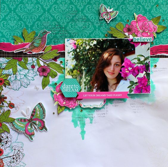 Dare to Dream - Kaisercraft DT using the beautiful new Fly Free Collection.  http://cathycafun.blogspot.com.au/2015/07/july-dt-reveal-with-kaisercraft.html  http://www.kaisercraft.com.au/blog/