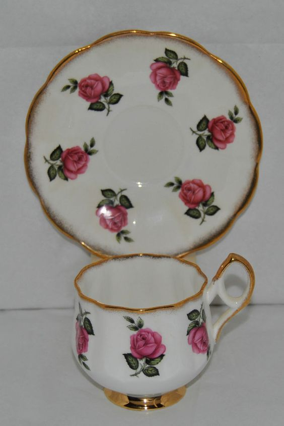 Beautiful Vintage Stratford Fine Bone China Tea Cup and Saucer #Stratford