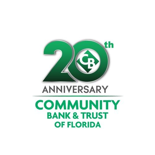 Community Bank Trust Of Florida 20th Anniversary Community Bank Trust Of Florida 20th Anniversary Logo We Are A Local Community Anniversary Logo