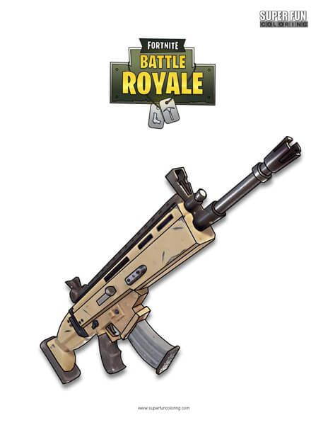 Fortnite Scar Coloring Page Fortnite Coloring Pages Fun Colors