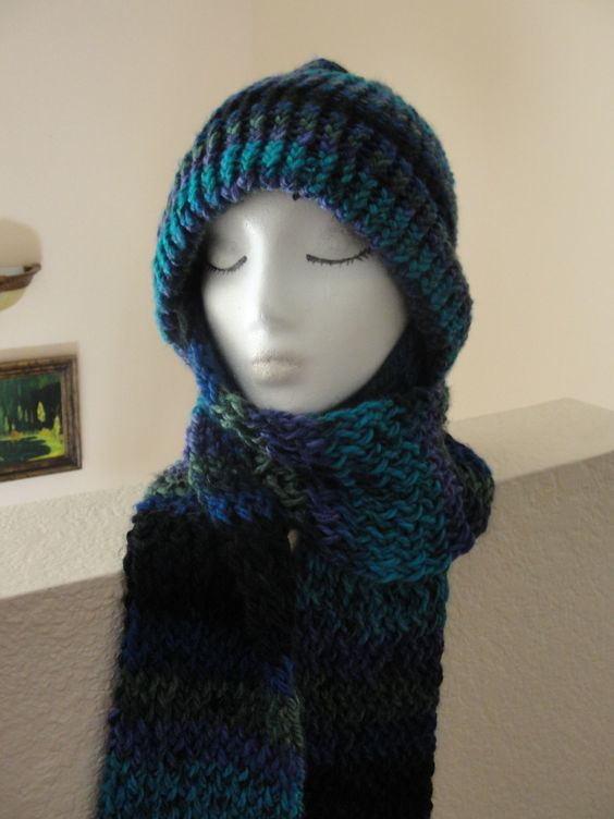 Crochet Pattern Hat Scarf Combo : Another view of the Hat and Scarf combo Hat/Scarf Combo ...