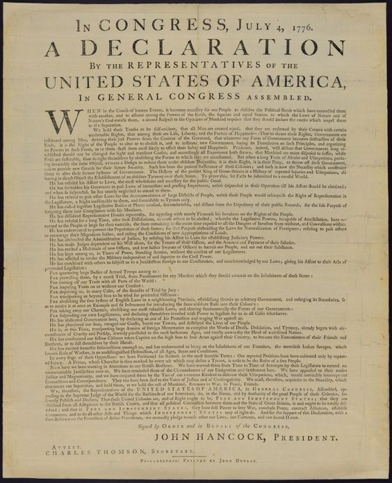 Dunlap Broadside - The purely typographic broadside that was distributed over 235 years ago, is the first version that actually spread the Declaration of Independence to the rest of the world.