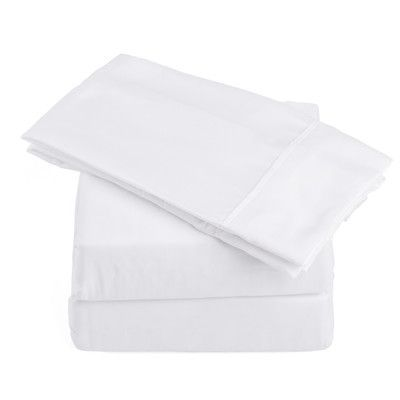 Harbormill 250 Thread Count Soft Sheet Set Size: King, Color: White