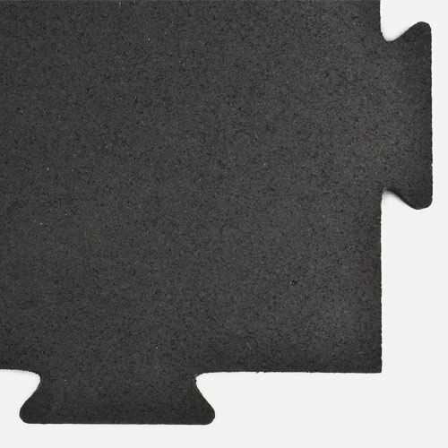 Rubber Tile Interlocking 1 2 In Black Gym Flooring Rubber Rubber Floor Tiles Gym Flooring Tiles