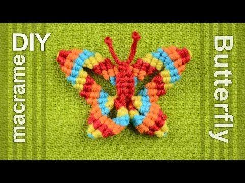 How to: Macramé Butterfly / Papillon, Farfalla, Mariposa, Borboleta, Schmetterling, Бабочка - YouTube