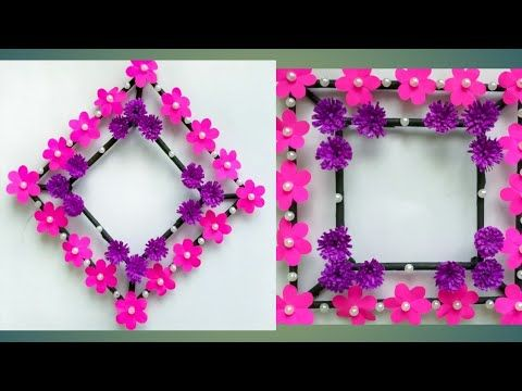 Diy Paper Flower Wall Hanging Simple And Beautiful Wall Hanging
