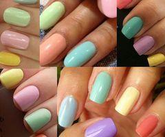 #nails #pastel #rainbow