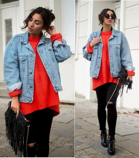 Samieze - Red Oversize Sweater
