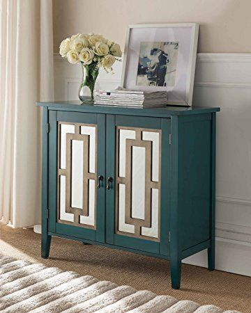 Kings Brand Antique Blue Buffet Server Cabinet Console Table