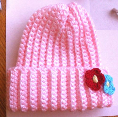 Newborn Light Pink Knitted Hat