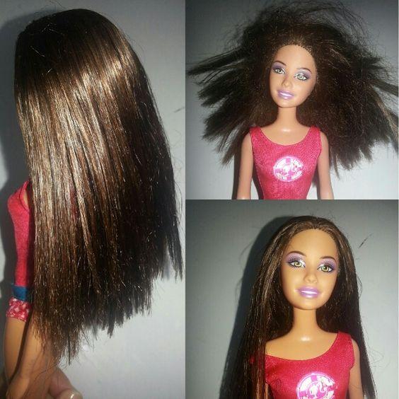 Suavisante de ropa  para arreglar el pelo de las muñecas. Increíble !!!
