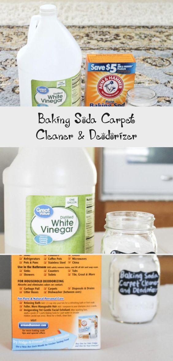 Baking Soda Carpet Cleaner Deodorizer In 2020 Baking Soda Cleaning Baking Soda On Carpet Carpet Cleaners