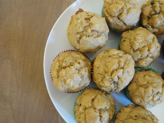 pumpkin oatmeal raisin muffins :) yummy!