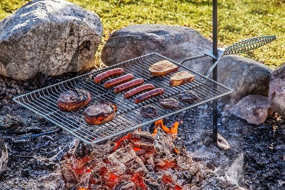 Campfire Cooking This Summer With The Stake Amp Grill
