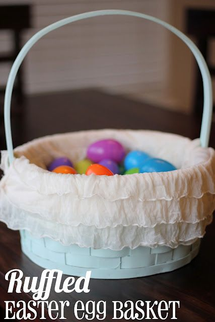 Ruffle Easter Basket ~ How to make your own ruffled Easter basket liner.