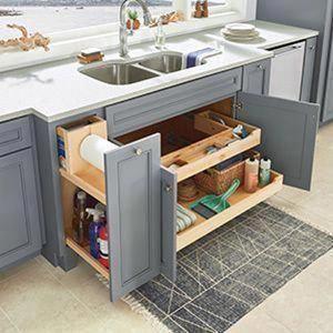 17+ Clever Kitchen Storage Ideas and Trends for 2020 #kitchenstorageideaslakeland #Kitchencabinets